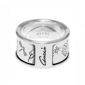 New Authentic Gucci Flora Sterling Ring Size 7.25